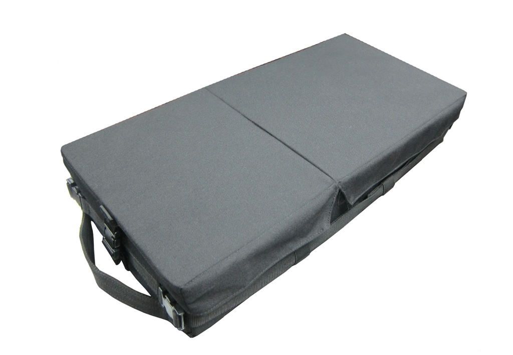 Large helicopter equipment box with multiple internal dividers